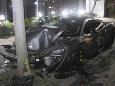 BET Star Terrence J Investigated for Alleged Hit & Run, McLaren Sports Car Smashed