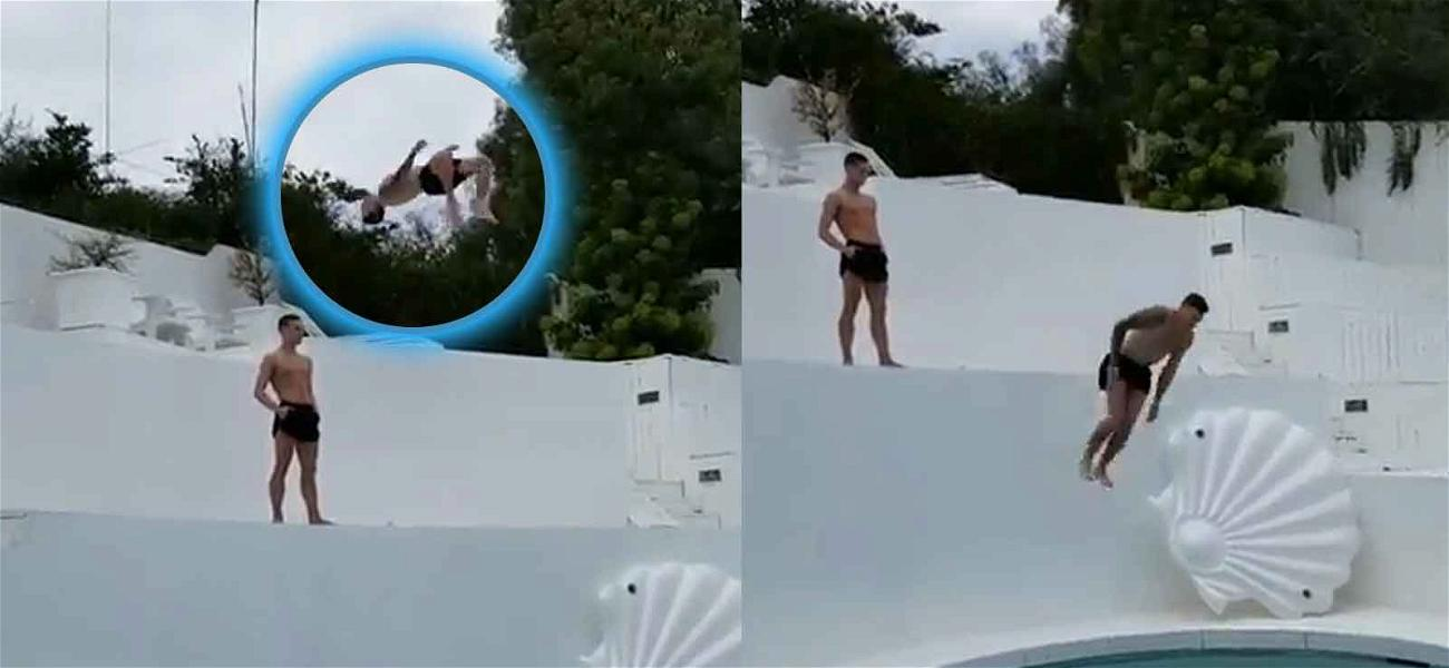 Gus Kenworthy Doing a Backflip Into a Pool Is Going to Freak You Out