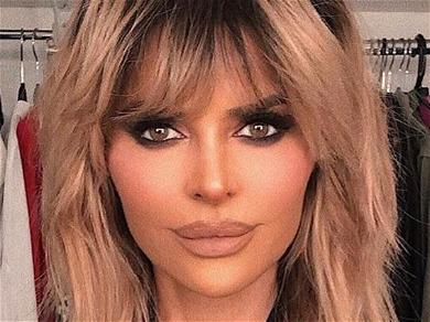 Lisa Rinna Begs For Attention Braless In Bathrobe