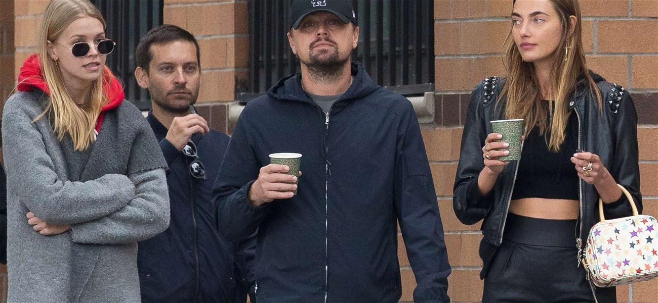 Leonardo DiCaprio and Tobey Maguire Mentoring Models in NYC