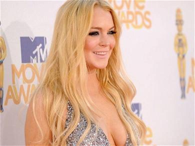 Lindsay Lohan Flashes Killer Legs In Sailor-Style Two-Piece From Dubai Bathroom