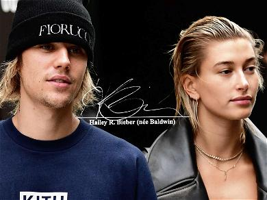 Hailey Bieber Has Been Practicing Signing Her Married Name