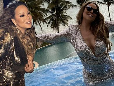 Mariah Carey Praised By Fans For Swimming In Her Sequined Gown