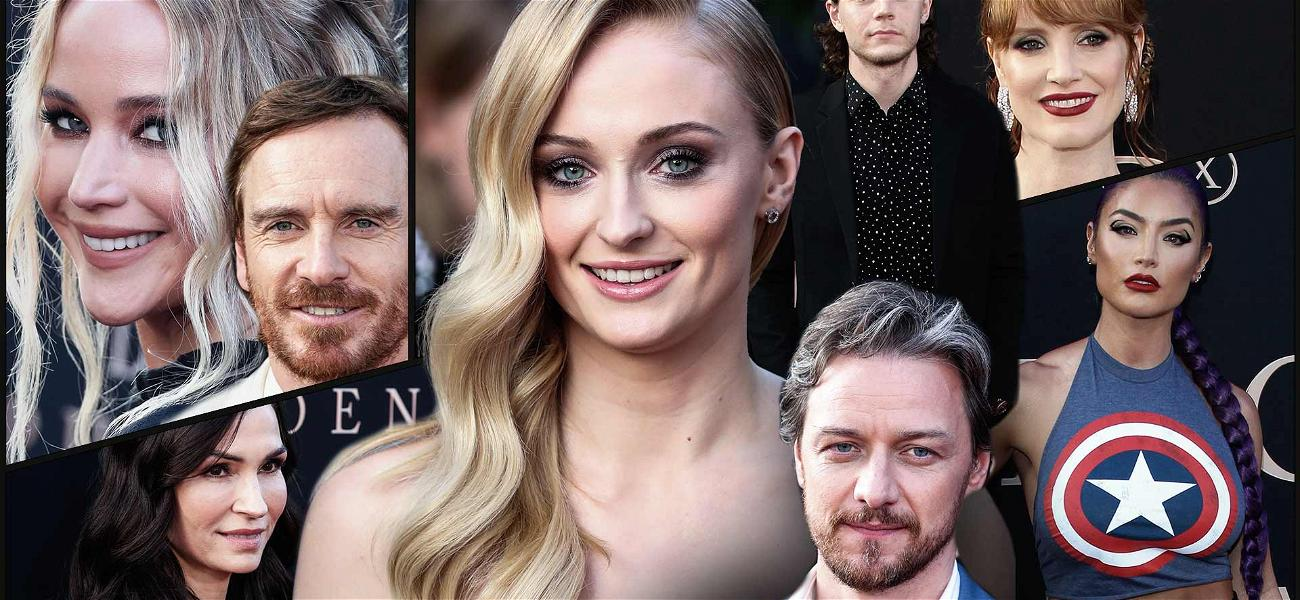 Sophie Turner Dazzles as the Center of Attention at the 'Dark Phoenix' Premiere