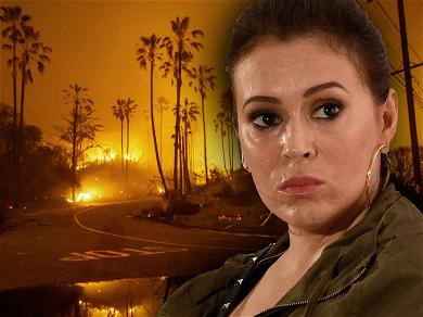 Alyssa Milano Scores Break from Trial While She Recovers from Woolsey Fire