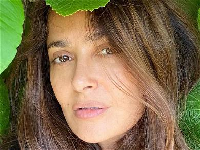 Salma Hayek Snaps The Beetle On Her Sunglasses In Swimsuit Shot