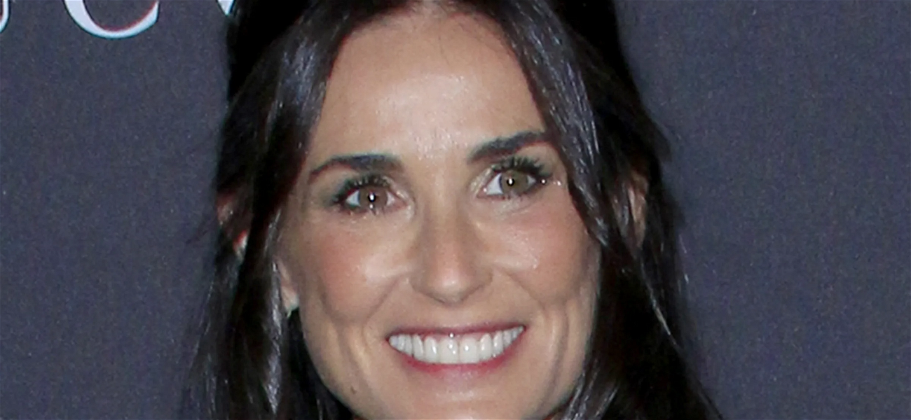 Demi Moore Flips The Bird With Cake On Her Face In Daughter Tallulah's Mother's Day Tribute
