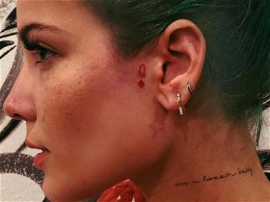 Halsey Just Got a Face Tattoo But Don't Worry, It's Actually Pretty Cool