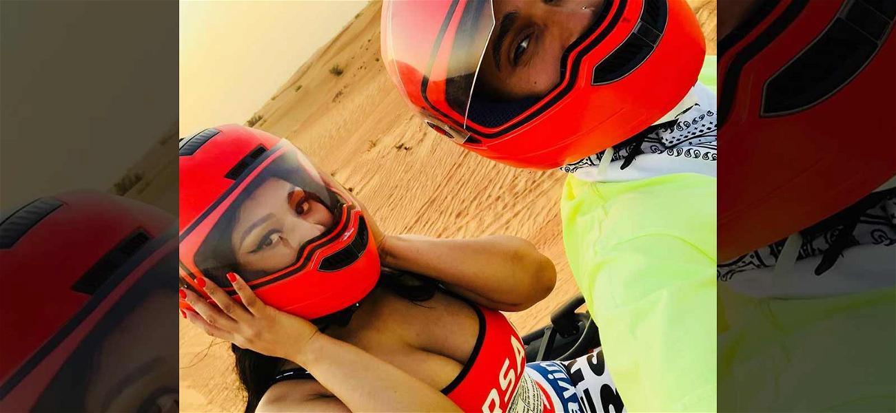 Nicki Minaj & 'New Boy' Lewis Hamilton Ride Around in Dubai Adding Fuel to Dating Rumors