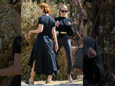 Sarah Paulson Directs Emma Roberts on Set of 'AHS: Apocalypse'