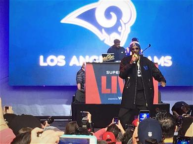 Snoop Dogg Shuts It Down For Rams Fans During Super Bowl Rally in Atlanta