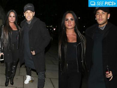 Demi Lovato Rolls with Neymar to London Casino