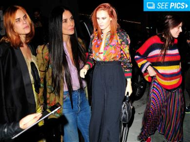Demi Moore & Daughters Go Hippie Glam at Gucci