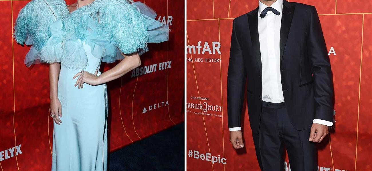 Katy Perry & Orlando Bloom Bizarrely Walk Separately at amfAR After Making First Red Carpet Debut