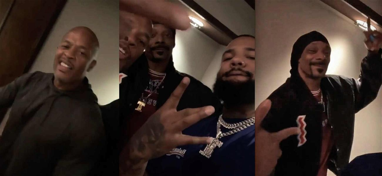 Dr. Dre, Snoop Dogg & The Game Join Forces in the Studio in Honor of Nipsey Hussle