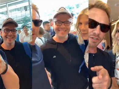 '90210' Stars Ian Ziering & Tori Spelling Reward Real-Life Superfan With Role on Reboot