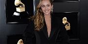 Miley Cyrus Showcases Pizza, Undies In Sheer Mirror Ball Dress