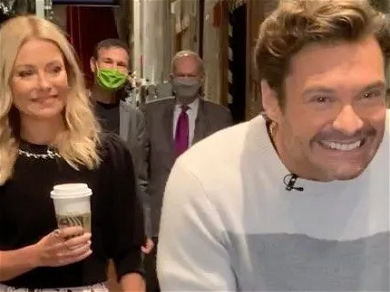 Kelly Ripa Shimmies In Gold Heels After Ryan Seacrest's COVID Results