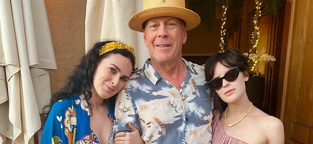 Bruce Willis Shows Off His Gorgeous Daughters On Hawaiian Vacation