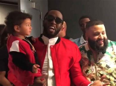 Diddy Is the Baby Whisperer, Shows Off Bond with DJ Khaled's Son