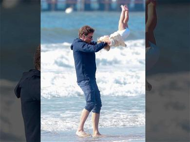 Bradley Cooper Has a Flippin' Great Time With His Daughter