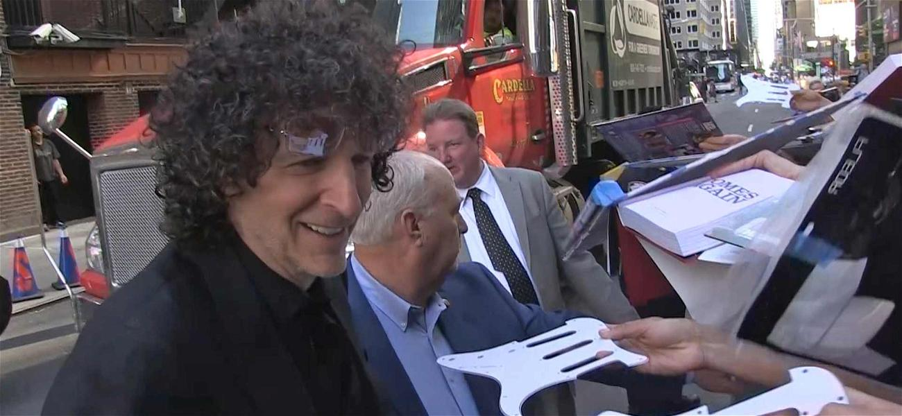Howard Stern Creates Fan Frenzy Outside Stephen Colbert Show