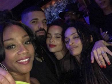 Drake and Zoë Kravitz Hookup Rumors Refueled by Tiffany Haddish