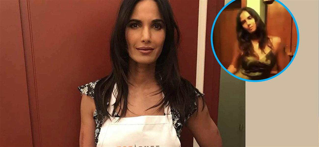 'Top Chef' Host Padma Lakshmi Cooks Up Some Sizzling Dance Moves In Silky Nightgown
