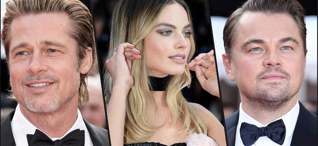 Brad Pitt, Leonardo DiCaprio & Margot Robbie Are Ridiculously Cute Together in Cannes