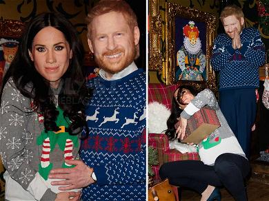 Live Wax Prince Harry & Pregnant Meghan Markle Are Elfin' Scary