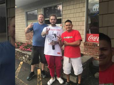Post Malone Plane Landing Victory Meal Included Beer, Chicken Wings & Lots of Pizza