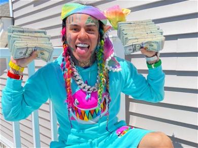 Tekashi 6ix9ine Shows Off A HUGE Bag Full Of Cash — 'I Made A Million Dollars On House Arrest!'