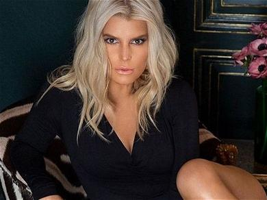 Jessica Simpson Encourages Stretching With Shirt Lift Photo
