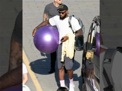 LeBron James Already Rocking Purple in Positano