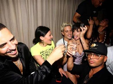 Halsey Takes Shots on G-Eazy's Lap During VMAs After-Party
