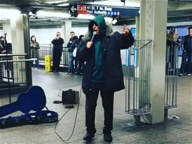 Adam Sandler Goes Incognito For Hilarious Subway Performance