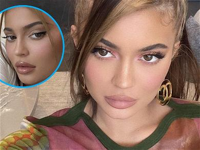 Kylie Jenner Trolled Over 'Dumb' Makeup Caption In Steamy Selfies