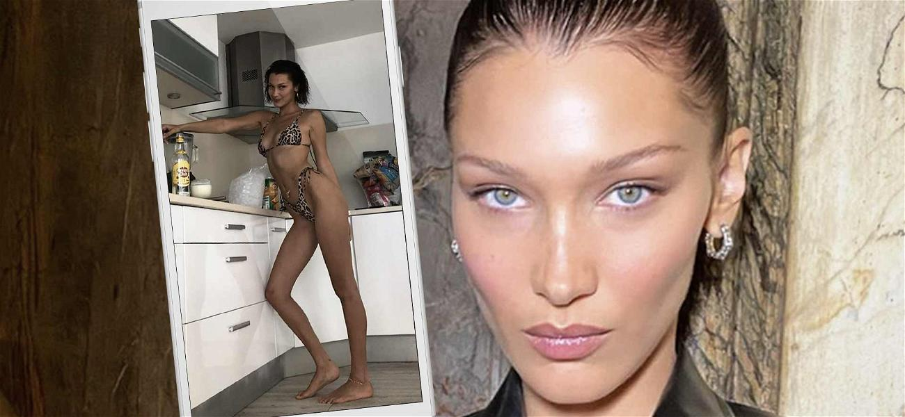 Bella Hadid Responds To Weight Concerns By Slipping Into Barely-There Bikini