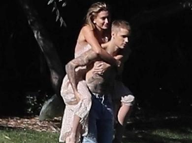 Justin Bieber Can't Get His New Wifey Off His Back