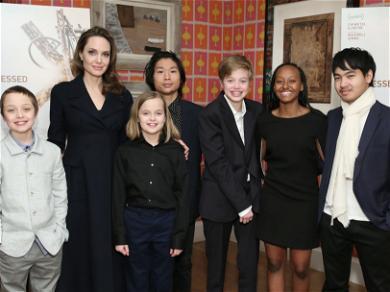Angelina Jolie & Her Kids Attend Cirque Du Soleil