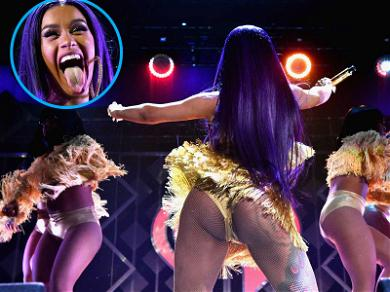 Cardi B Sleighs With Booty on Display During Annual Jingle Ball Concert