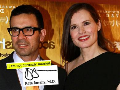 Geena Davis Backs Up Claim She and Hubby Were Never Married with His Own Words