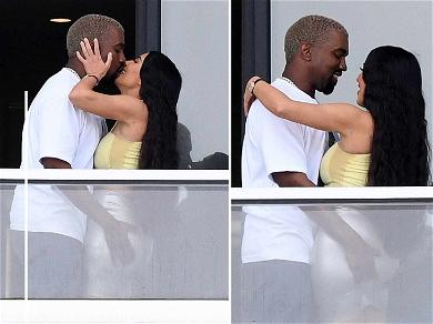 Kim Kardashian and Kanye West Break in Their New Miami Home With Some Major PDA!