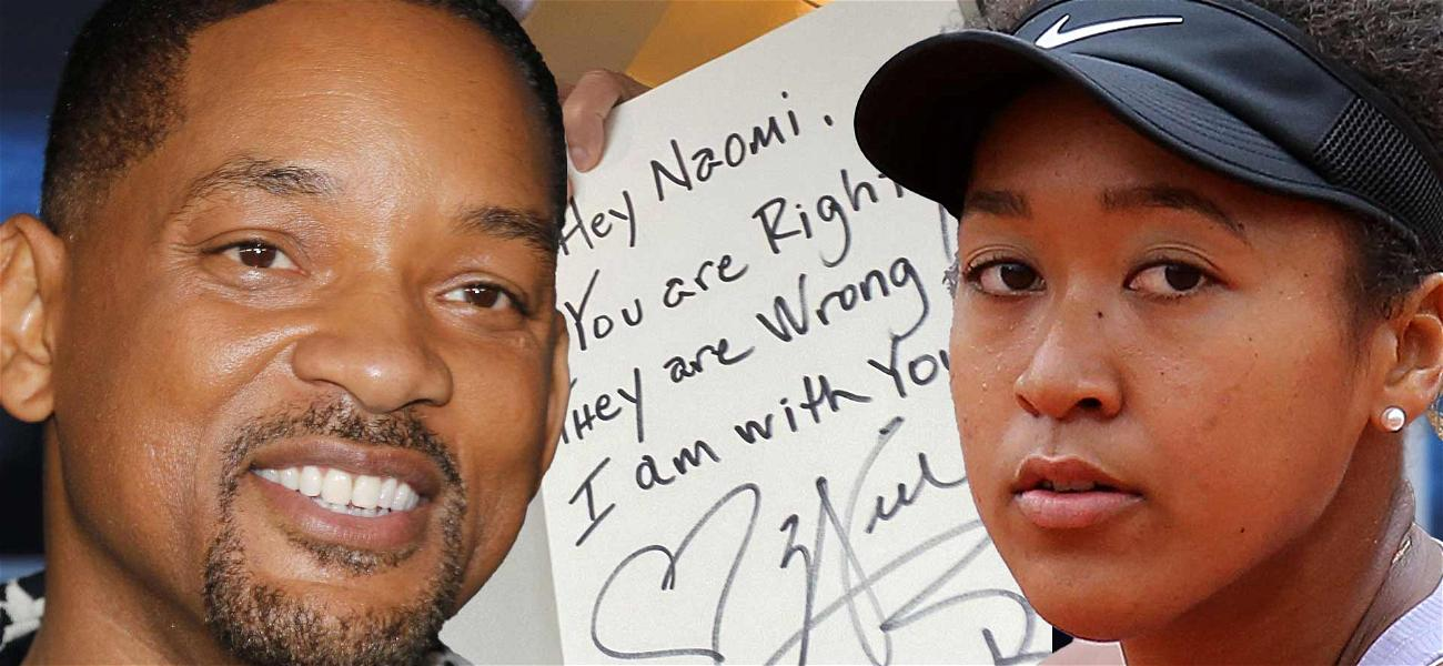 Will Smith Supports Naomi Osaka With Handwritten Note: 'They Are Wrong!'