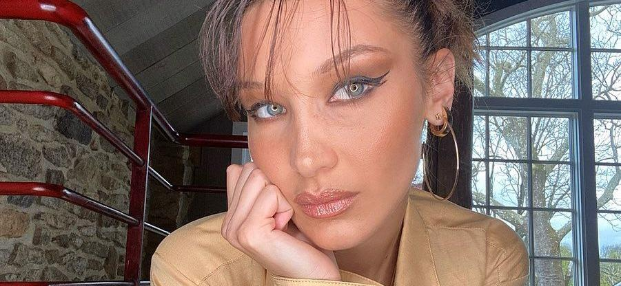Bella Hadid Challenged In Sheer Top With Unusually-Placed Mask