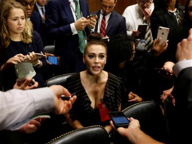 Alyssa Milano Attends Kavanaugh-Ford Supreme Court Hearing