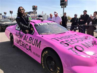 Jared Leto Wants to Buy Thirty Seconds to Mars Custom Pink NASCAR Stock Car