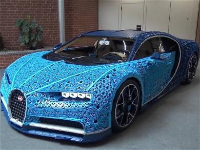 Lego Built a Real-Life, Driveable Bugatti from Over 1 Million Bricks!