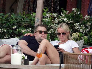 James Corden and Wife Cool Off from 'Karaoke' With Italian Vacay