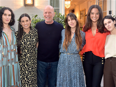 Bruce Willis Supports Ex-Wife Demi Moore at Book Launch Party